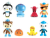 octonauts pack peso shellington barnacles kwazii