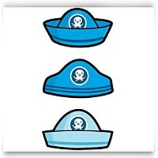 Pack Of 6 Blue Octonauts Card Hats